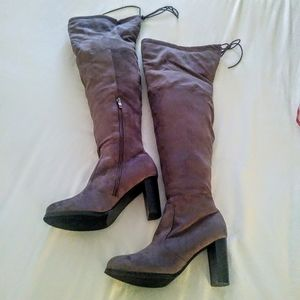 Bucco Over the Knee Taupe Boots